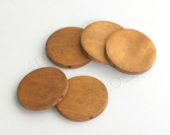 10pcs round wooden bead 30mm W098