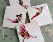 High Flying - stone tile drink coasters