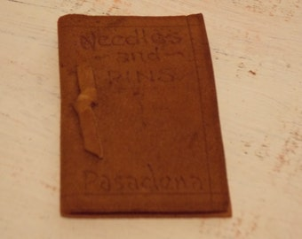 Leather NEEDLE BOOK Pinkeep Needlecase Suede Pasadena Keepsake