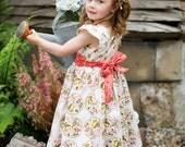 SAMPLE SALE -  Charlotte Dress - La Vie en Rose - Size 12 months
