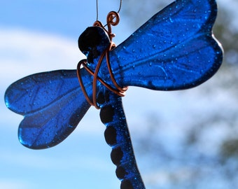 Dragonfly Azure Blue Suncatcher Garden Oranament