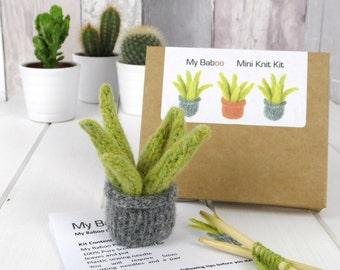 Pet Plant Knitting Kit, Succulent Kit, Christmas Gift, UK Shop, Scotland. Plant craft kit. Plant felt kit. Christmas Stocking Filler