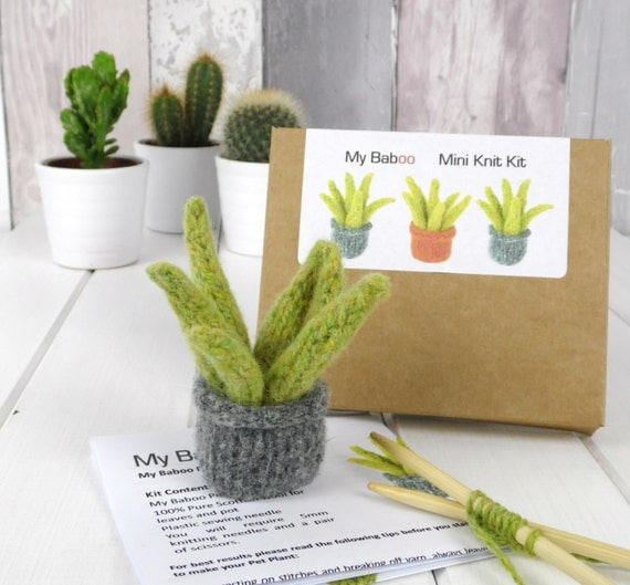 Pet Plant Knitting Kit, Succulent Kit, Christmas Gift, UK Shop, Scotland. Plant craft kit. Plant felt kit. Christmas Stocking Filler