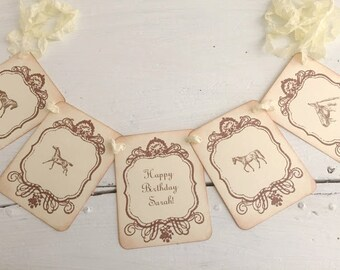 Horse Banner Garland Personalized Decoration Baby Shower Birthday Party