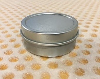 1/2 ounce shallow round metal tin containers for lip balm, craft storage, wedding favors (pack of 24)