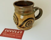 Handmade Arabesque Mug 16 oz - A bit of nature to hold in your hand - Coffee & Tea Lover's Gift - Celtic Christmas Gift - Gardeners Gift