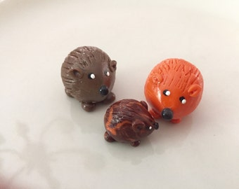 Mini marble Hedgehog of Hedgehog Bog shown in Family Mom Dad Baby Grandma Grandpa Grandchildren Choose two colors