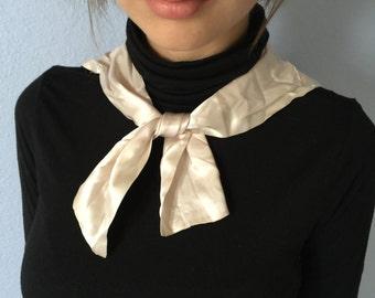 Antique Satin Collar - 1930s Snap Closure - Unique Accessory