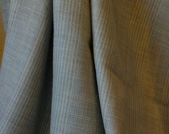 Classic, neutral plaid wool yardage