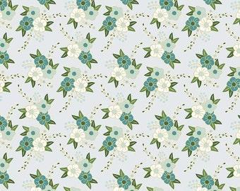 25% OFF Wonderland Floral Blue - 1/2 Yard