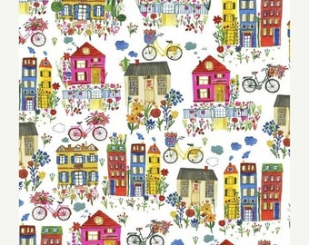 25% OFF Flower Pedals Houses by Carolyn Gavin for Windham Fabrics