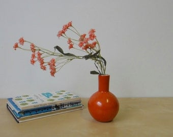Vintage Modern Orange Red Vase - Otagiri Mercantile Company