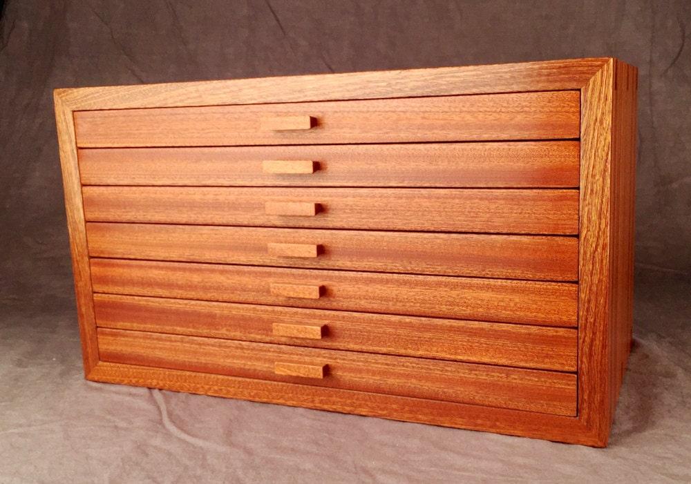 large jewelry box quartered sapele mahogany. Black Bedroom Furniture Sets. Home Design Ideas