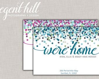 Printable We've Moved Postcard // New Address Postcard