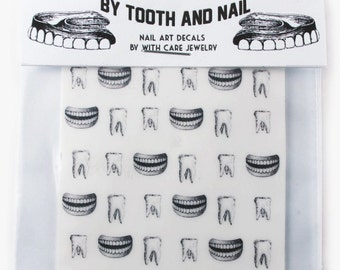 Tooth and Nail Fingernail Decals