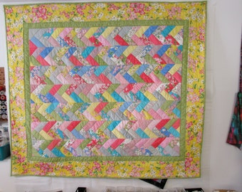 "Dogwood  Trail lap quilt  60"" x 67"" - REDUCED"