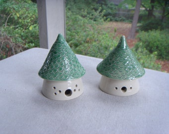 Set Of Two Small Fairy Houses For The Home Or Garden