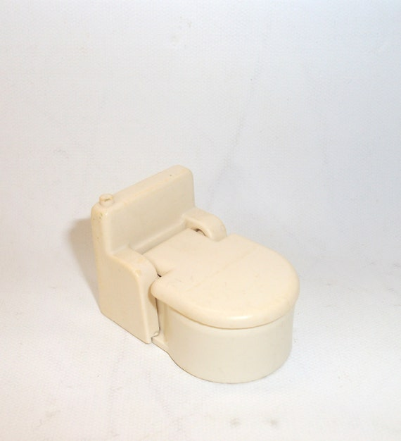 Vintage Toy Potty : Vintage fisher price bathroom white toilet little people toy