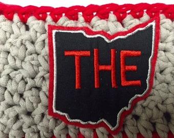 Crochet Headwrap // Headband // Earwarmer // THE Ohio State // Handmade