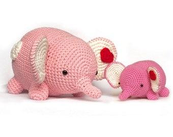Crochet Pattern elephant amigurumi PDF
