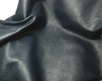 NAVY BLUE Cow Hide Leather Piece #3