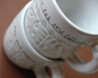 Tea and Tolkien Small Vintage Mug Set of Two