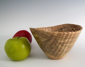Wood Bowl - Curly Maple Wood Turned Bowl - Decorative Wood Turned Bowl - Father's Day - Wedding Gift - Artistic Wood Bowl- Wooden Bowl