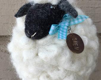 Needle Felted Sheep named Owen