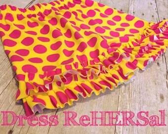 Pink yellow gray white knit ruffle shorts YOU CHOOSE