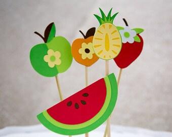 Fruit theme cake topper