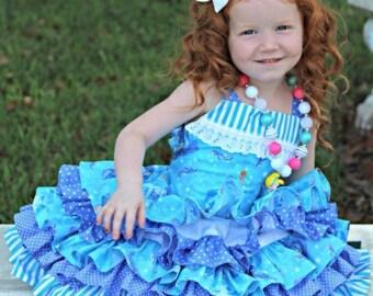 ON SALE Ready to Ship Custom Boutique Disney Kinkade Cinderella 5 Ruffle Dress Girl 3 3t Small 4