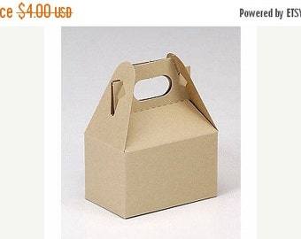 Valentines Day Sale 6 Pack Kraft Mini Gable Style Boxes 4 X 2.5 X 2.5 Inches Perfect for gifts, food, and party packaging