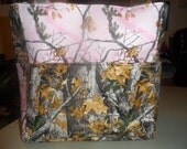 hunter camo realtree pink brown leaf tree deer hunting tote bag/purse/ diaper bag