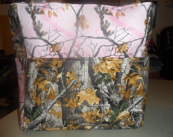 hunter camo realtree pink brown leaf tree deer hunting tote bag/purse/ diaper bag