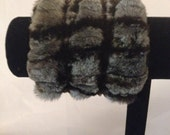 Variegated Sheared Mink Cuffs for Kristina Z. - NY Fur Queen