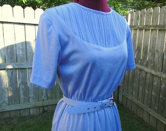 Vintage Blair Boutique Feminine Classy Lavender Dress With Matching Belt