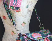 New! MEDIUM size Digital Padded Camera Bag with Camera Strap Cover by Watermelon Wishes