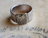 SAVE 14 PERCENT NOW Mens ring of rugged sterling silver