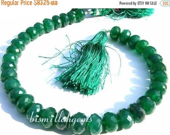 55% OFF SALE Full 8 inches - Finest Quality Emerald Green Onyx Faceted Rondelles Size 8 - 9mm micro faceted rondelles