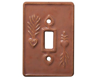 Charms Single Toggle Light Switch Cover in Salmon Glaze