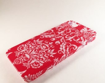 Red Damask Phone Case - iPhone Case - Samsung Galaxy Phone Case - Phone Back Cover