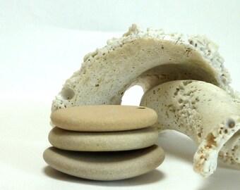Worry Beach Stone Pendants Large Pebbles Shore Stones River Rocks Beachstone Jewelry Pendant Dangles Big Ovals PECAN COLLECTION