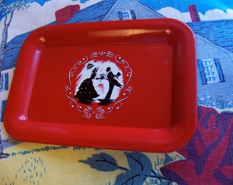 little silhouette tole tip tray