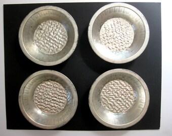Vintage Small Aluminum Pie Pans, Set of Four, Mid Century Farmhouse, Vintage Kitchen