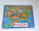 Vintage USA Puzzle Frame Tray Puzzle NOS
