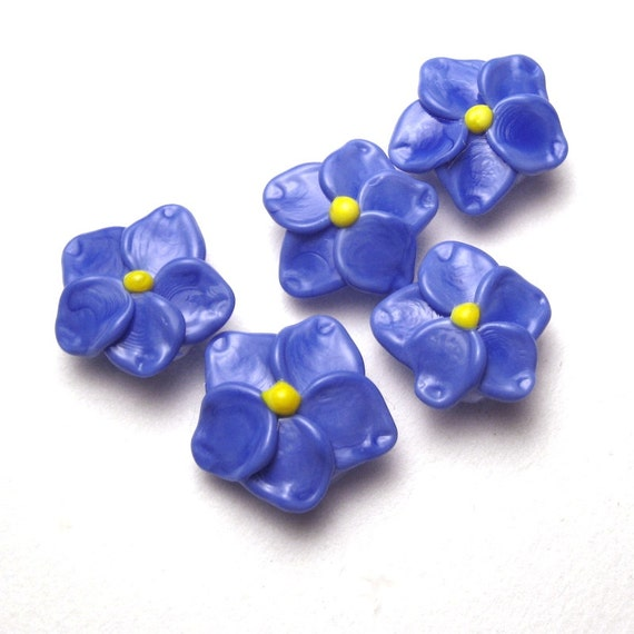 forget me not handmade artisan lwork glass in
