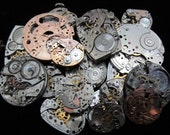 Steampunk Watch Movements Parts Cogs Gears  Assemblage FW 29