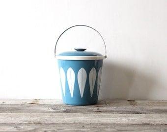 Light Blue Cathrineholm Enamelware Ice Bucket