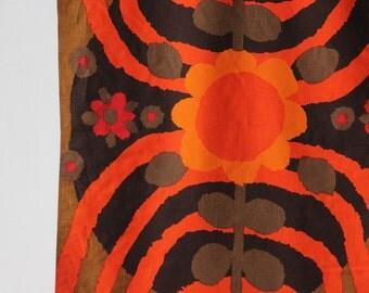 1970's Modern Finland Sweden Graphic Silkscreen Wall Hanging