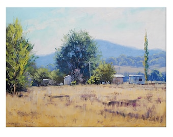 CODE331 Coupon code: 15% offFarm Painting  by  Graham Gercken Original Oil Landscape by Graham Gercken